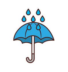 Cute umbrella with rain drops vector