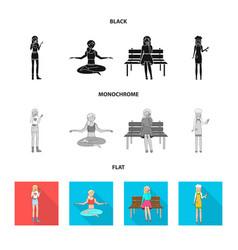 design of posture and mood symbol set of vector image