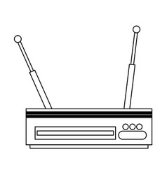 digital television decoder black and white vector image