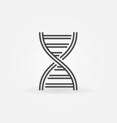 Dna spiral outline icon or symbol vector