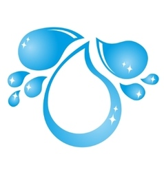 Drops of water vector