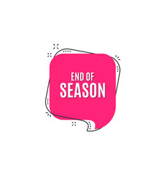 end of season sale special offer price sign vector image