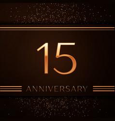 Fifteen years anniversary celebration logotype vector