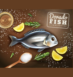 Fish cooking vector