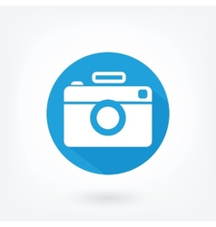 Flat styled icon of film camera vector