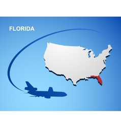 Florida vector image