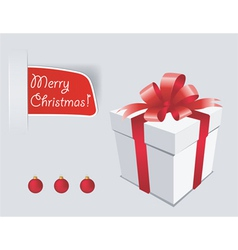 gift box with red bow isolated vector image