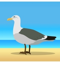 Gull Flat Design vector