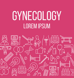 Gynecology poster with flat icons vector