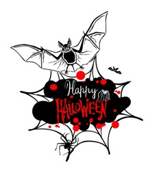 Happy Halloween message design background EPS 10 vector image