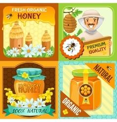 Honey Composition Set vector image