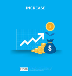 Income salary rate increase business chart vector