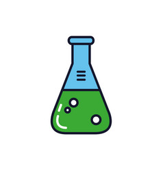 Isolated laboratory flask icon fill design vector