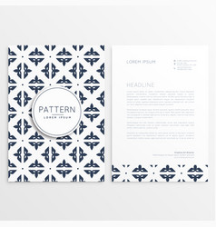 Letterhead template design with pattern vector
