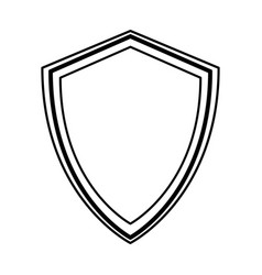 line icon shield cartoon vector image
