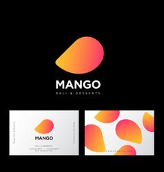 Logo mango business card vector