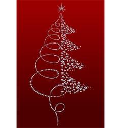 Luxury Christmas tree vector