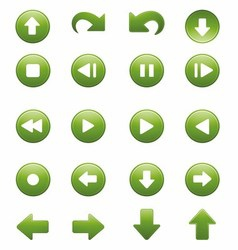 Media Player Remote Control Button Icon Set vector image