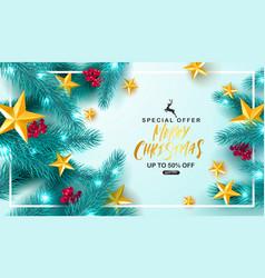 merry christmas saleuniversal background vector image