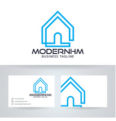 Modern home logo design vector
