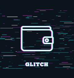 money wallet line icon cash symbol vector image