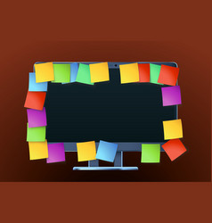 Monitor with paper vector