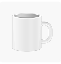 Pattern white cup vector image