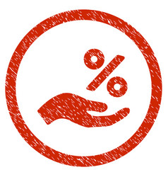 percent offer hand rounded grainy icon vector image
