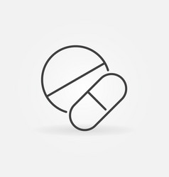 pills thin line medicament or medical vector image