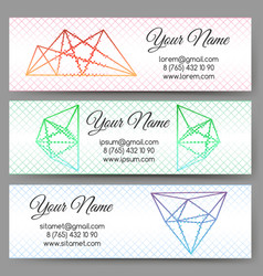 polygonal shapes banners set vector image