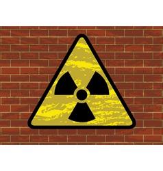 Radioactivity trefoil sign vector