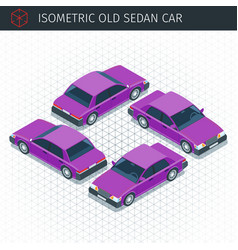 retro sedan car vector image