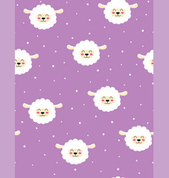seamless pattern with lamb isolated vector image