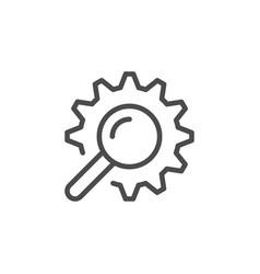 search engine optimization line outline icon vector image