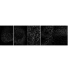 Set distressed white grainy texture vector