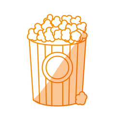 Silhouette popcorn food in the cinema movie eat vector