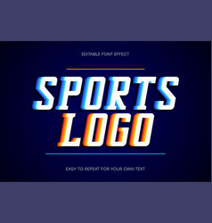sport text effect college style text sans-serif vector image