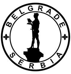 Stamp-belgrade-serbia vector