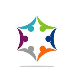 star partnership circle vector image