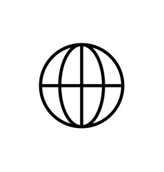 thin line globe icon vector image