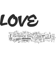 What is love and how do i get it text word cloud vector