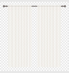 White simple Curtains Isolated on vector