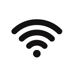 wifi signal icon wireless symbol connection vector image