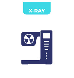 X-ray radiology machine icon on white vector