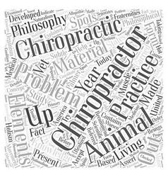 animal chiropractor Word Cloud Concept vector image vector image