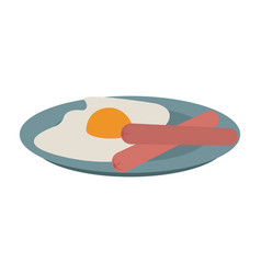 eggs and bacon american breakfast vector image