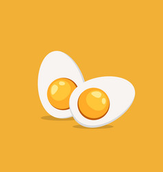hard boiled sliced egg vector image vector image