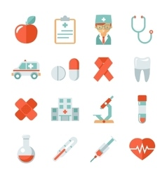 Medicine and health care icons vector