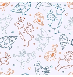 Seamless Bird Silhouette Pattern vector image