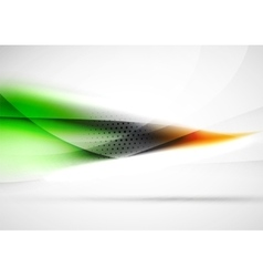 Abstract background blurred wave lines in the air vector image vector image